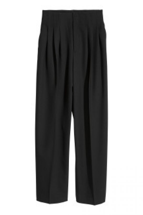 Pantaloni largi din mix lana