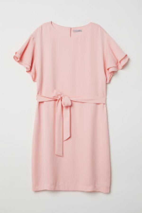 Rochie cu volane la maneci