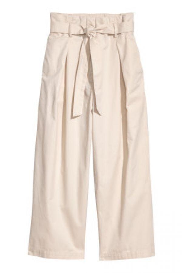 Pantaloni largi de bumbac