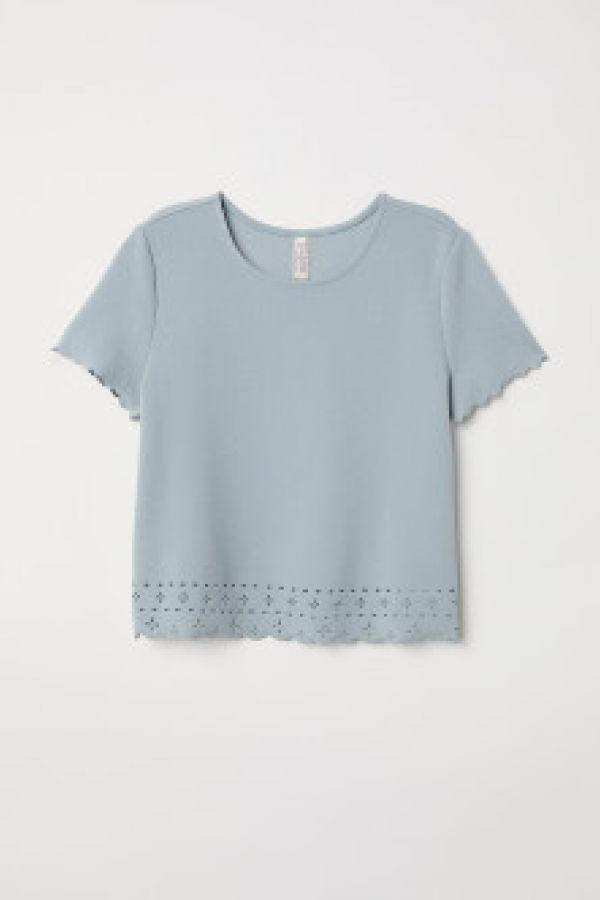 Bluza cu margini festonate