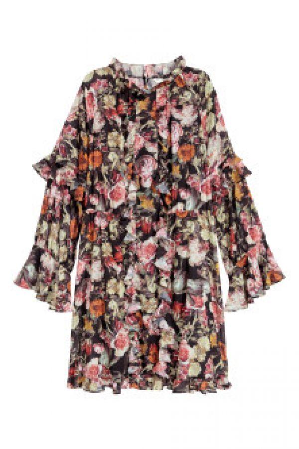 Rochie ampla cu volane