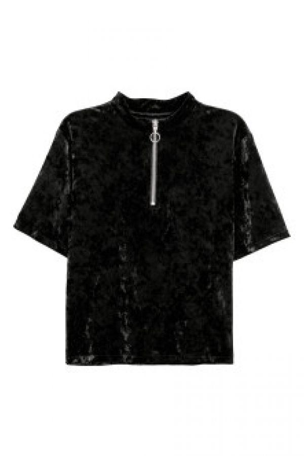 Bluza de catifea sifonata