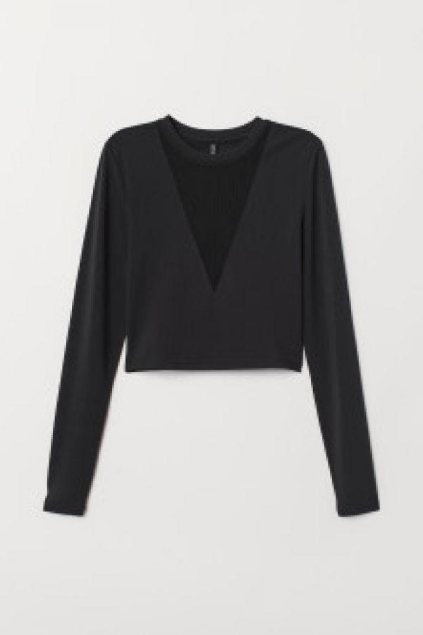 Bluza scurta de jerseu