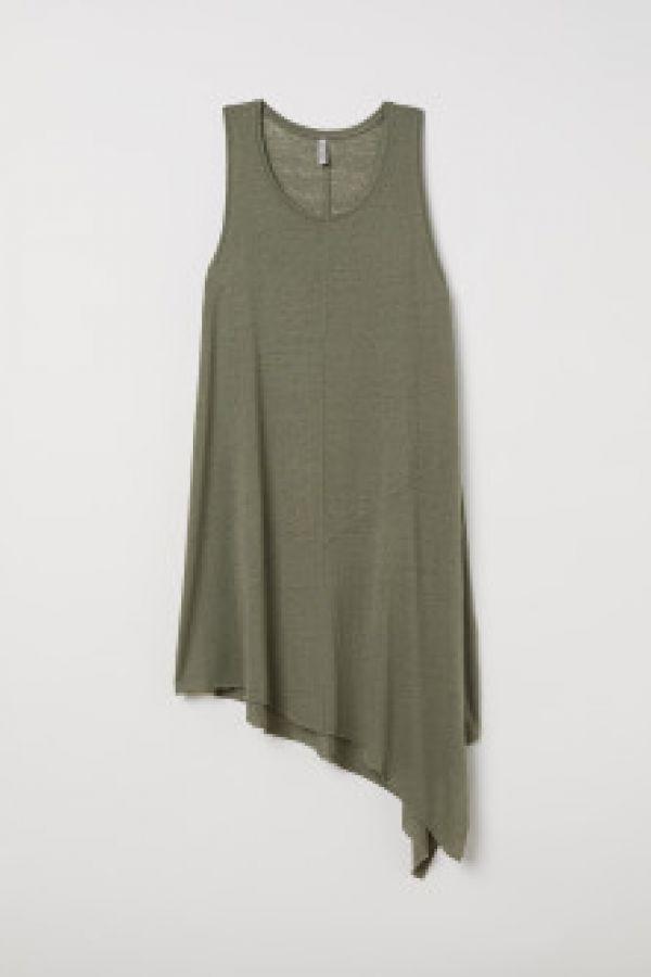 Rochie de jerseu asimetrica