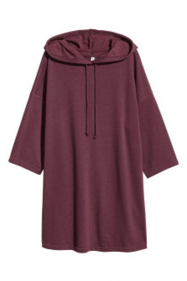 Rochie de molton cu gluga