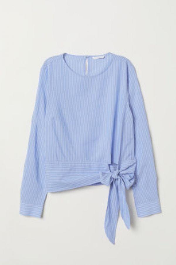 Bluza din mix de modal, cu nod