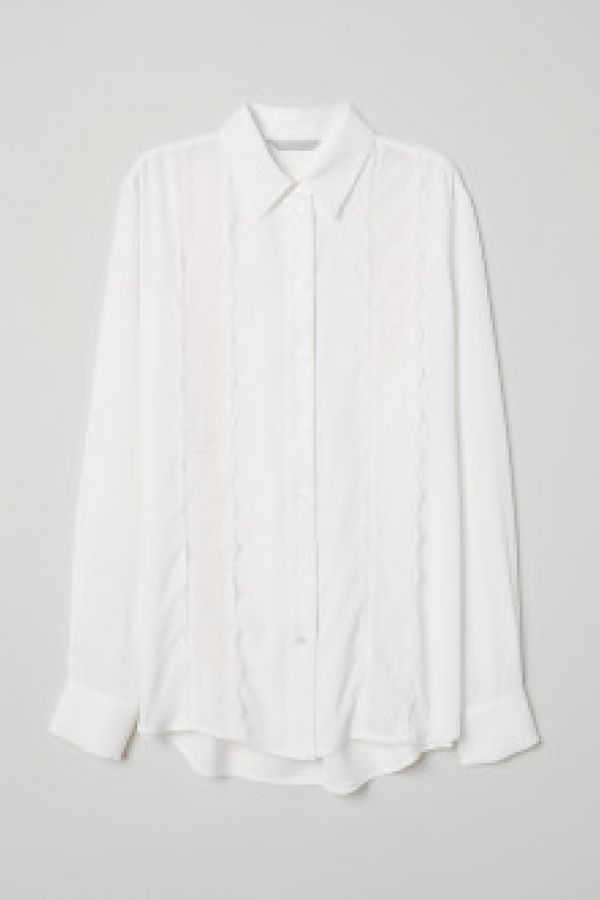 Bluza cu broderie de dantela