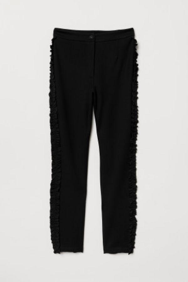Pantaloni elastici cu volanase