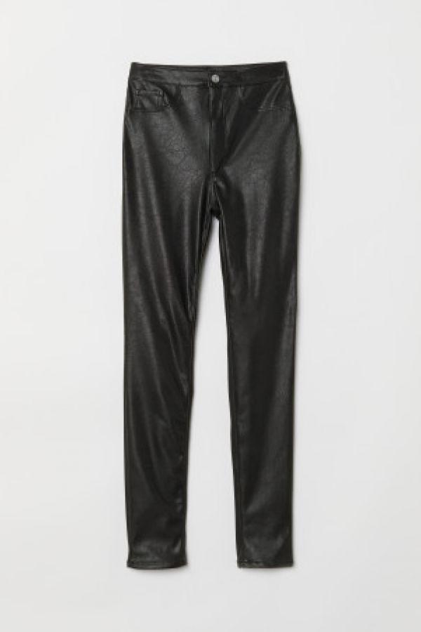 Pantaloni de imitatie de piele