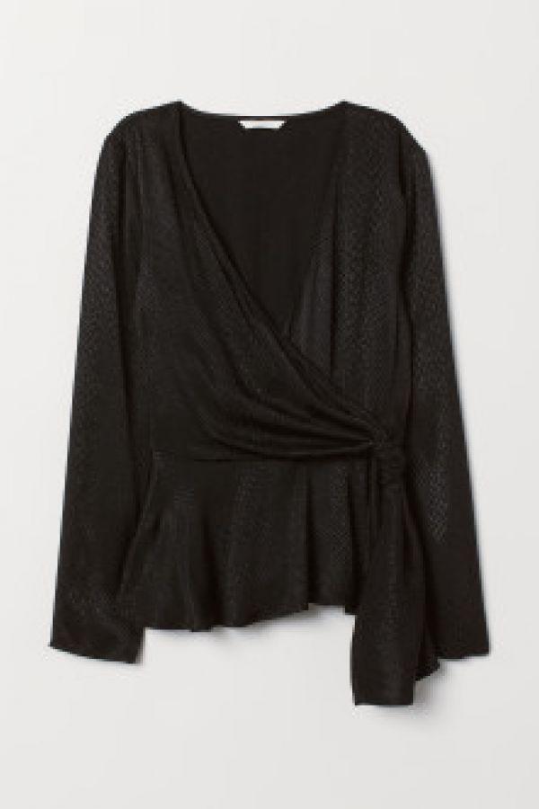 Bluza tesuta jacard cu peplum