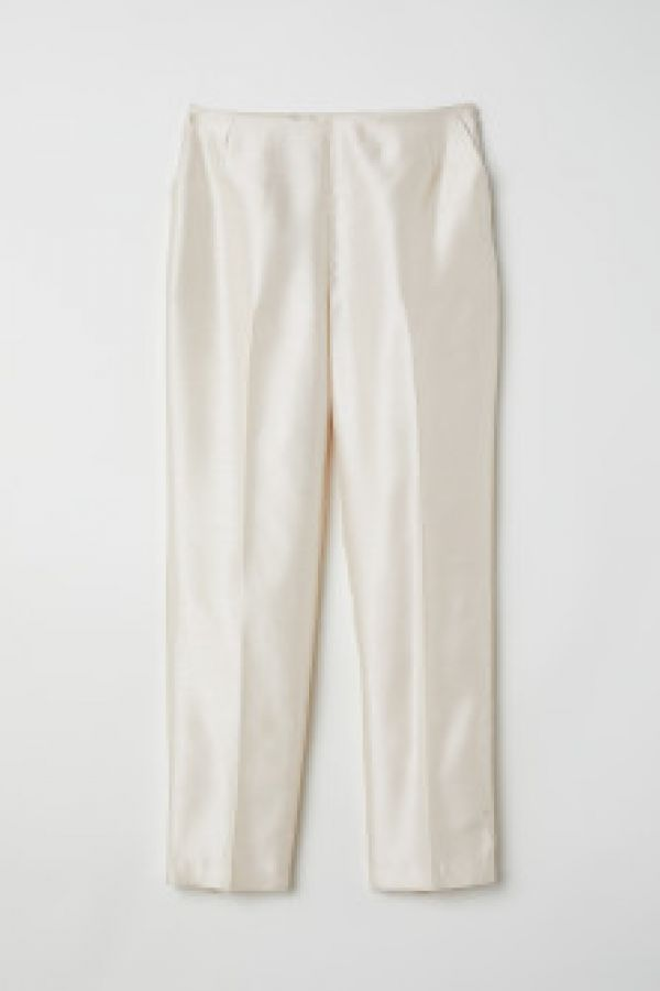 Pantaloni eleganti luciosi