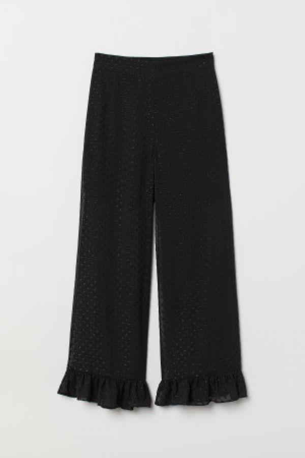 Pantaloni largi de sifon