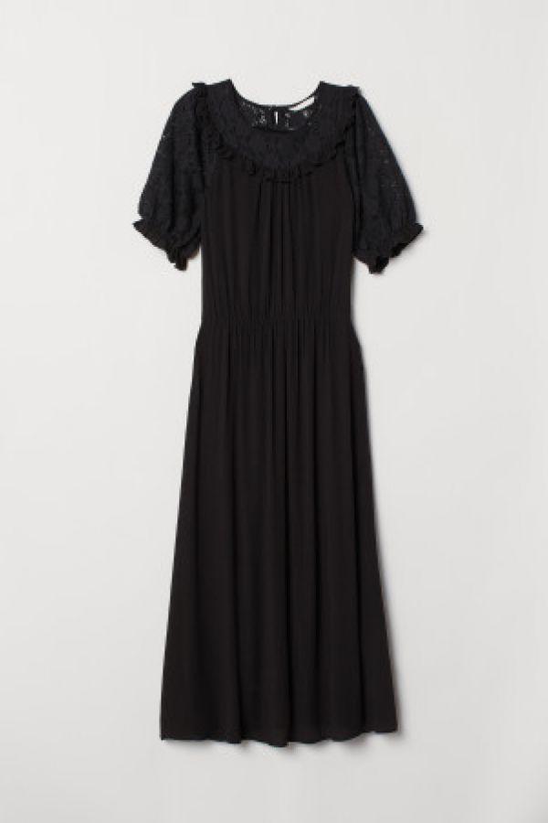 Rochie cu platca de dantela