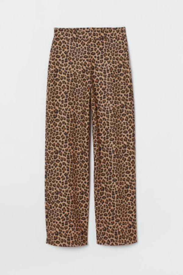 Pantaloni largi de jerseu