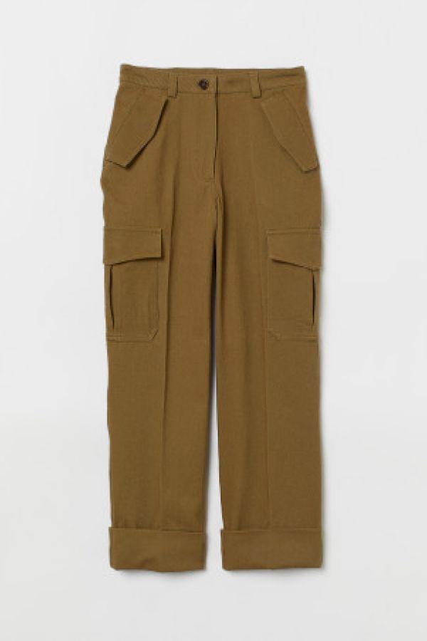 Pantaloni cargo pana la glezna