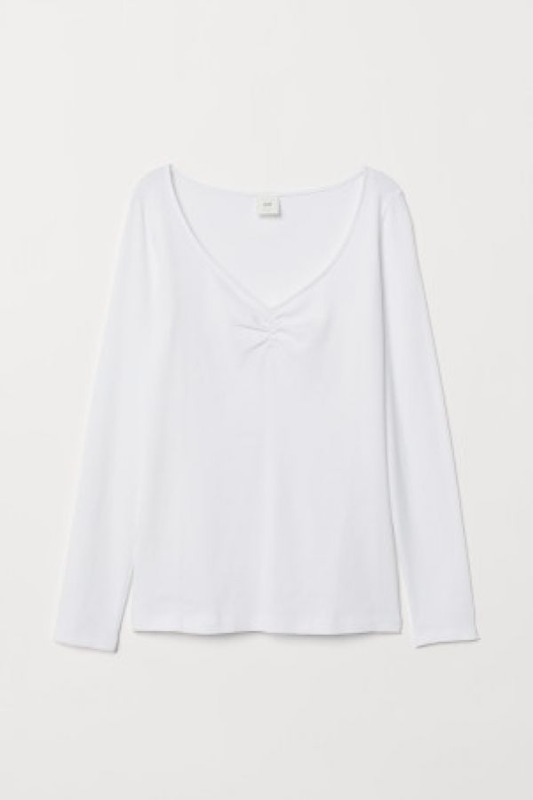 Bluza de jerseu in V