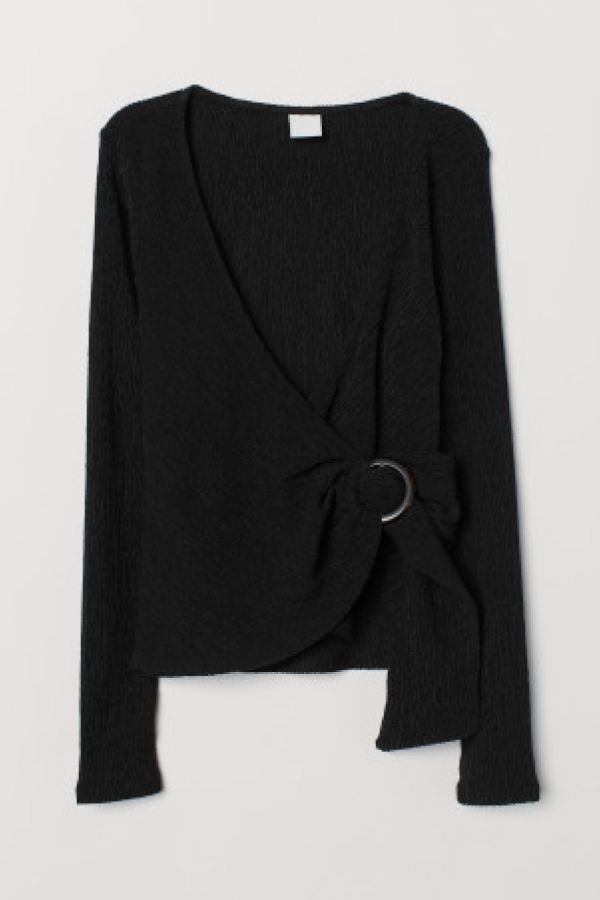 Bluza de jerseu creponat