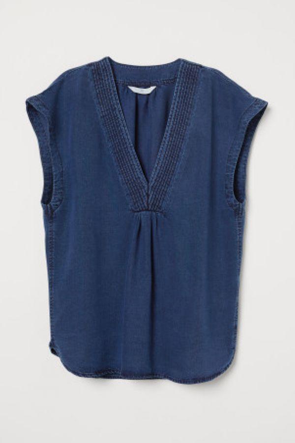 Bluza din denim de lyocell
