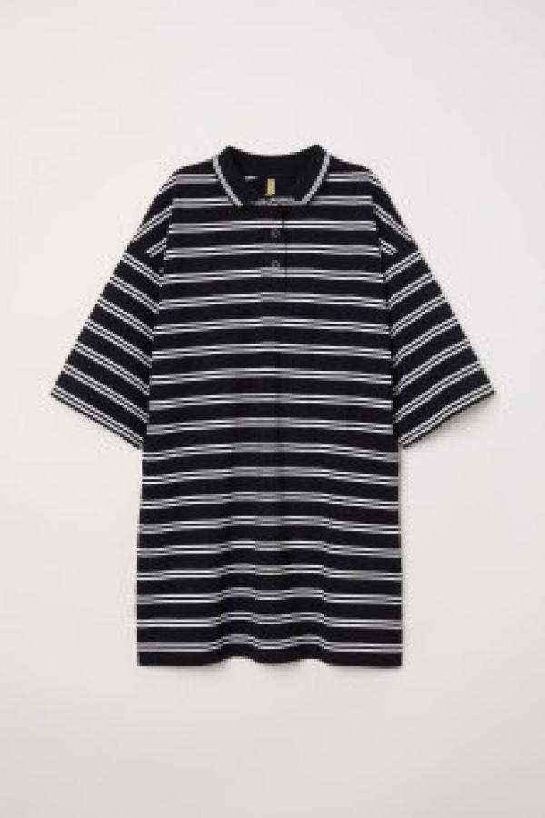 Rochie-tricou cu guler