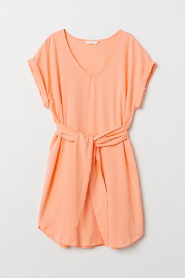 Rochie de jerseu cu cordon