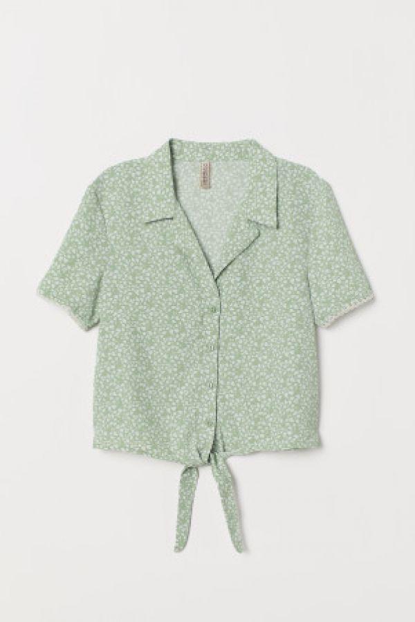 Bluza cu panglici la baza