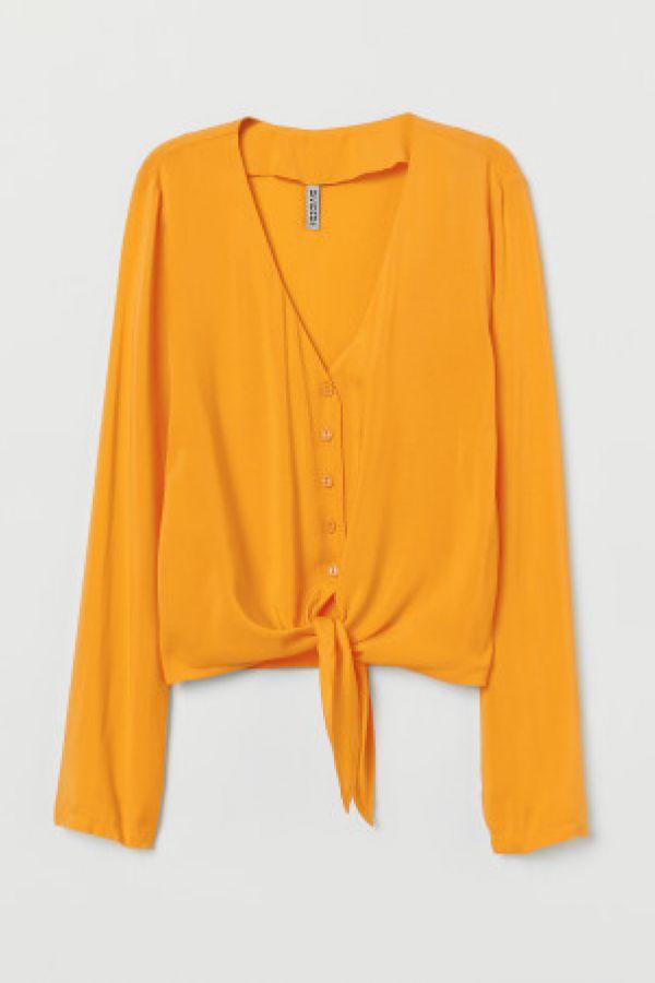 Bluza in V cu nod