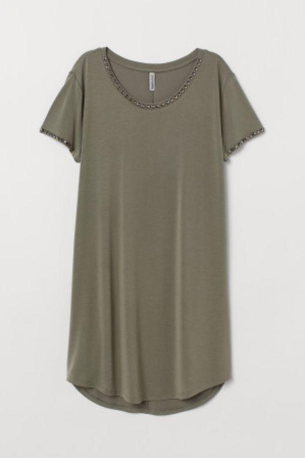 Rochie-tricou cu tinte