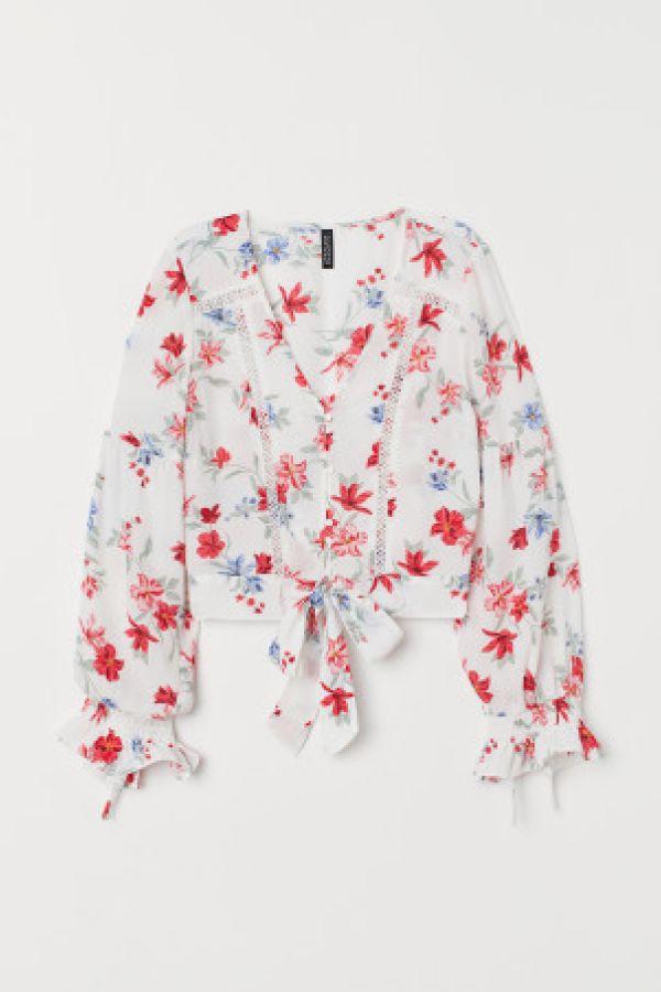 Bluza in V cu nasturi