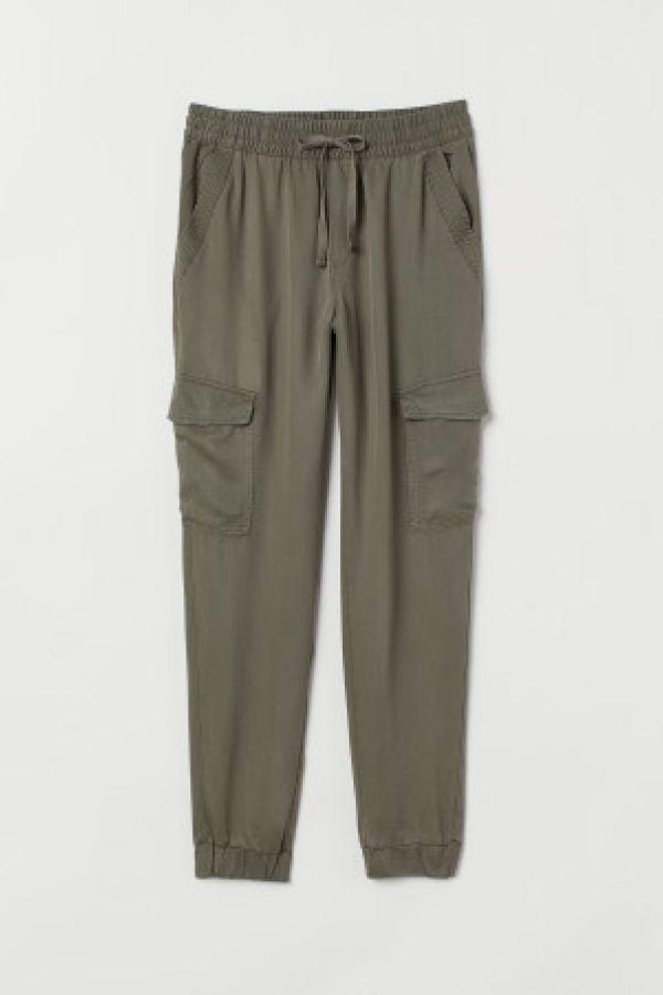 Pantaloni cargo de lyocell