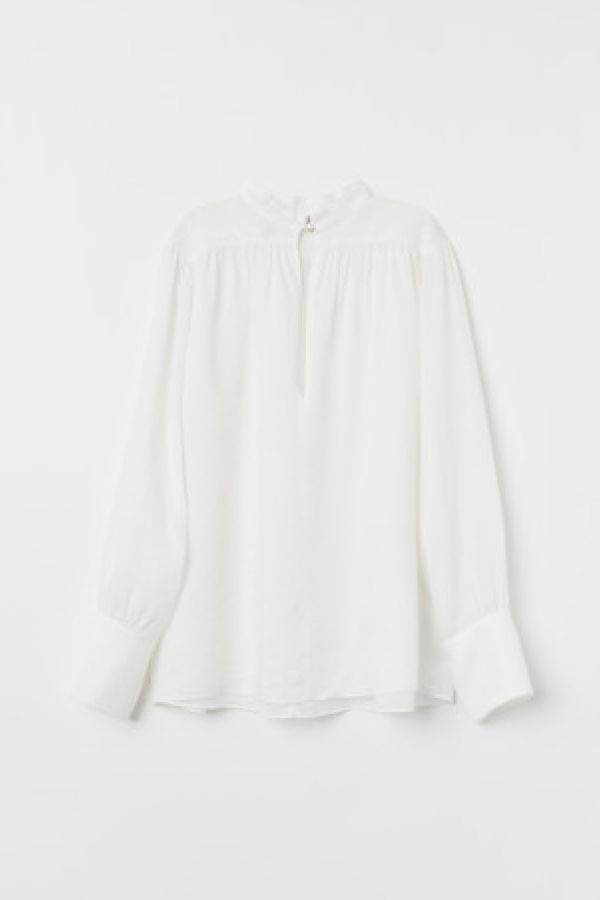 Bluza vaporoasa de ramie