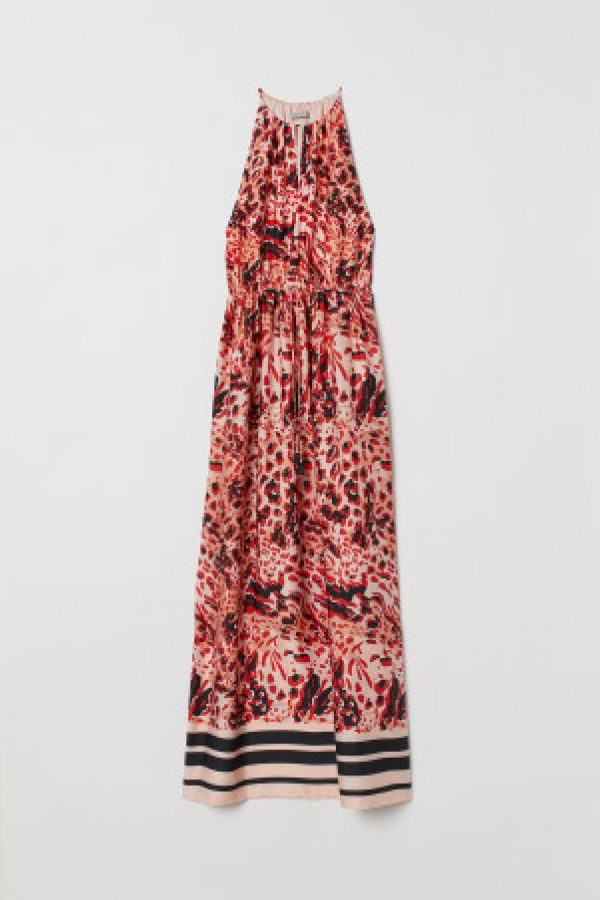 Rochie maxi de satin