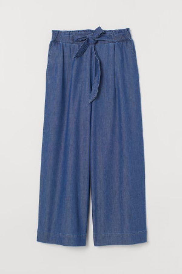 Pantaloni largi cu elastic