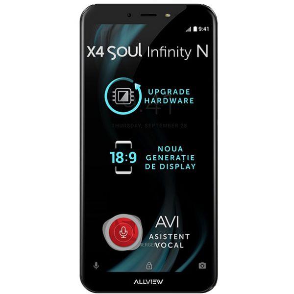 Telefon ALLVIEW X4 Soul Infinity N, 32GB, 4GB RAM, dual sim, Steel Gray