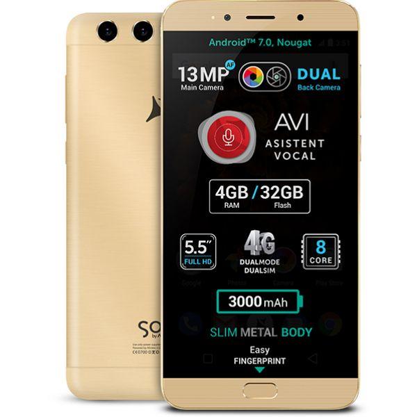 Telefon ALLVIEW X4 Soul Lite, 32GB, 4GB RAM, Dual SIM, Gold