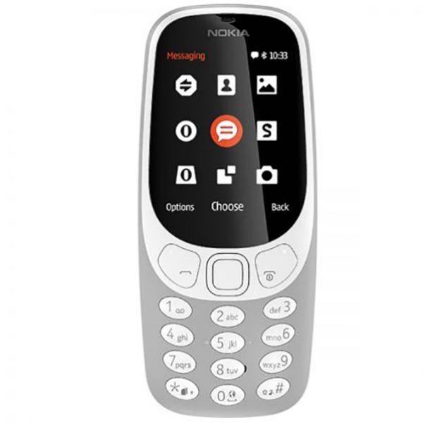 Telefon mobil NOKIA 3310 16MB, 2G, Dual SIM, Gray