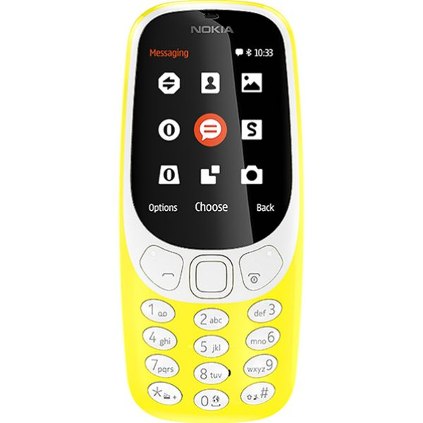 Telefon mobil NOKIA 3310 16MB, 2G, Dual SIM, Yellow