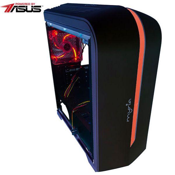 Sistem IT MYRIA Style V42 Powered by ASUS, AMD Ryzen 5 1400 pana la 3.4GHz, 8GB, 1TB, NVDIA GeForce GTX 1050 2GB, Linux