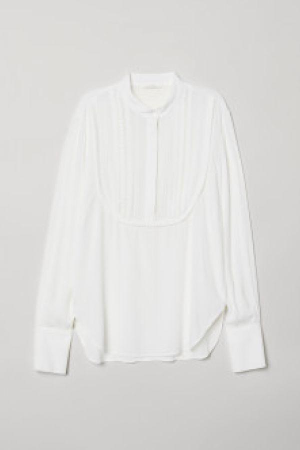 Bluza de viscoza cu plastron
