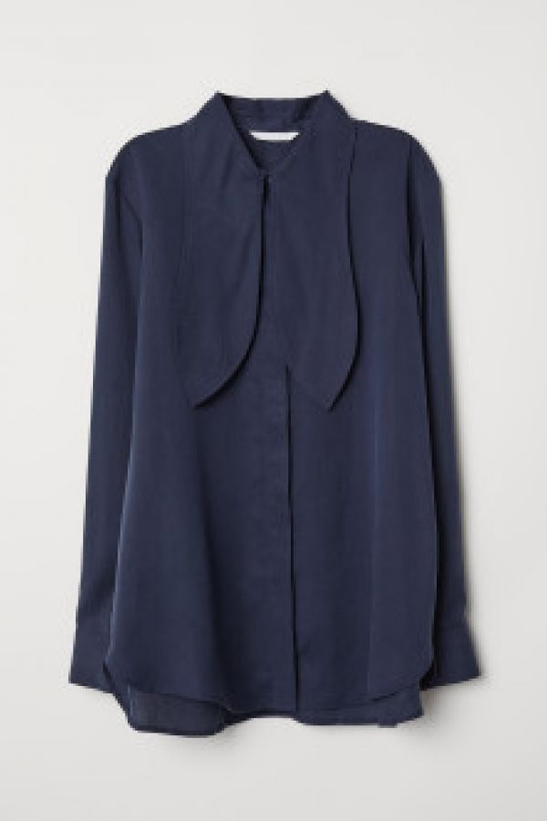 Bluza de lyocell cu panglici