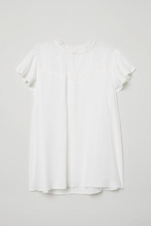 Bluza cu platca de dantela