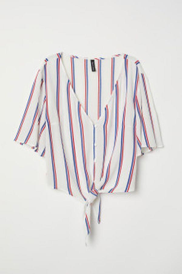 Bluza in V cu nod la baza