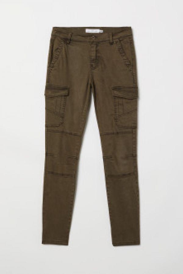 Pantaloni cargo cu lyocell
