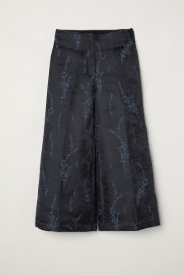 Pantaloni cu motiv jacard