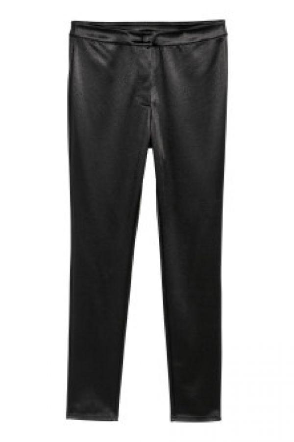 Pantaloni cu aspect lucios
