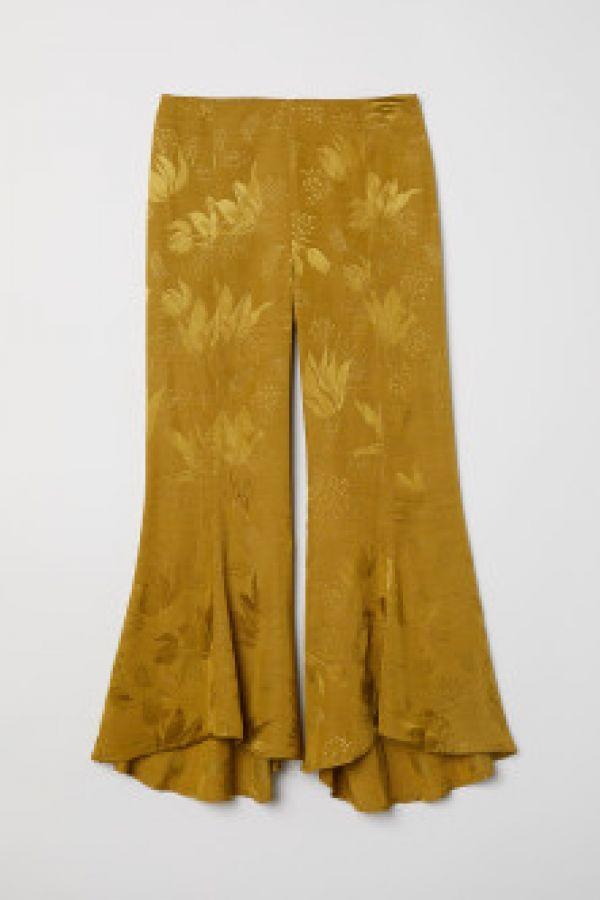 Pantaloni din tesatura jacard